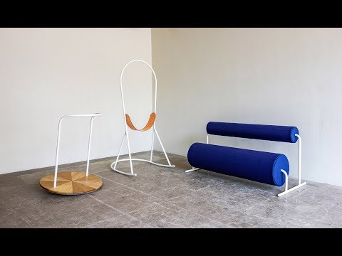 Joe Parr's PlaySetting furniture is influenced by playground equipment