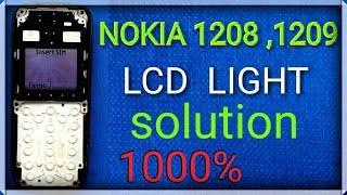 NOKIA 1600, 1110, 1112,2626,2310, display LCD light problem
