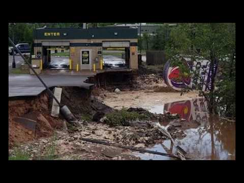 Apocalyptic Scenery: Flash Floods Wash Away Streets In Lake Linden, Michigan
