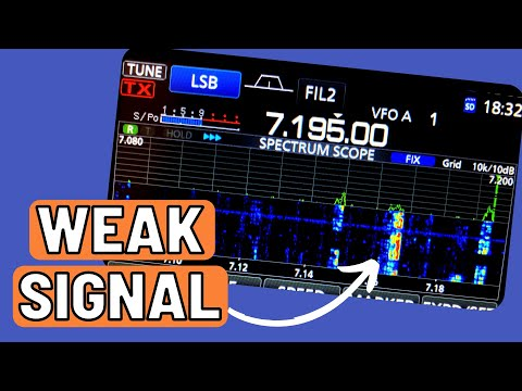 Icom IC-705, IC-7300 and IC-9700 Waterfall Setup for Weak Signals