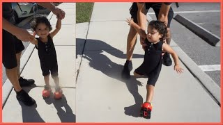 2 Year Old Tries Roller Skating.... i can't stop laughing