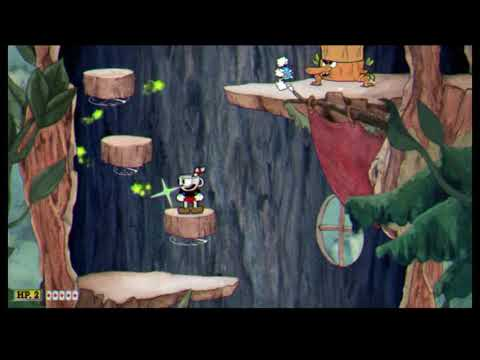 Cuphead (Treetop Trouble gameplay) No OST + FX but piano rags