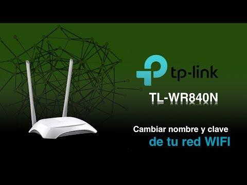 Cómo cambiar el nombre y clave de tu red wifi - TP-Link TL-WR840N