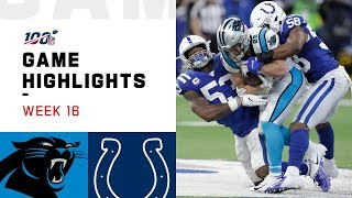 Panthers vs. Colts Week 16 Highlights | NFL 2019