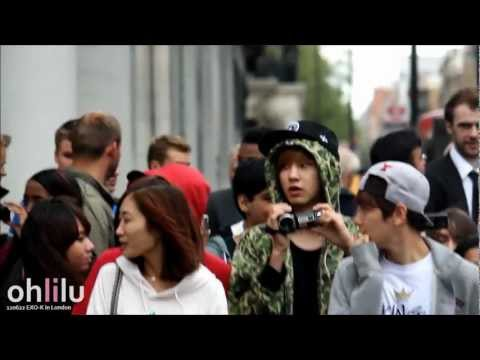 [Fancam] 120622 EXO-K in London - Chanyeol really likes babies