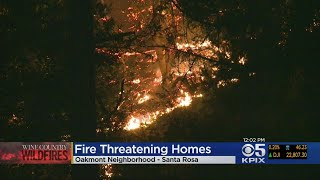 Firefighters Take Up Defensive Position In Santa Rosa As Wine Country Fires Spread