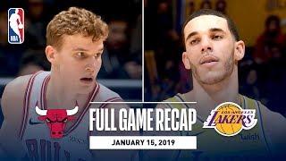 Full Game Recap: Bulls vs Lakers | Lonzo Leads Los Angeles