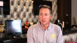 Ian Poulter home with Nicho International's drapery, furniture,pillows and motorized shades