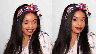 HOW TO STYLE A HEADWRAP/HEADSCARF HAIR TUTORIAL | ROYALLY CHIC