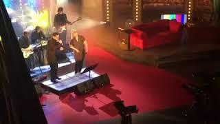 Show Jana Krause - Zákulisí - zvuková zkouška, kapela, David Kraus a Linda Finková - Show Jana Krause 18. 4. 2018 - Zdroj: