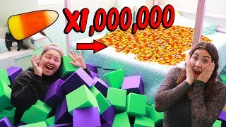 I TURNED HER room into a FOAM PIT PRANK! and added a SURPRISE 🎁🎁🎁