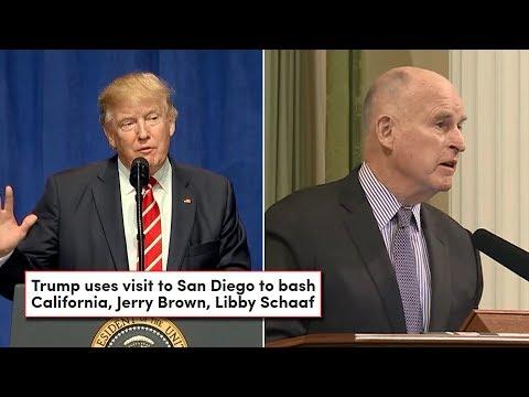 Trump Wrecks California Governor Jerry Brown After Border Wall Criticism (REACTION)