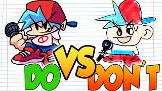 DOs & DON'Ts Drawing BOYFRIEND Friday Night Funkin In 1 Minute CHALLENGE!