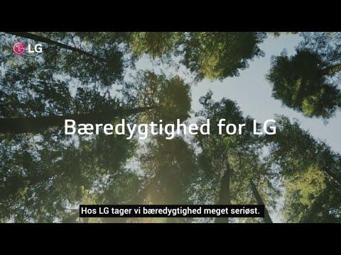 LG, med fokus på bæredygtighed.