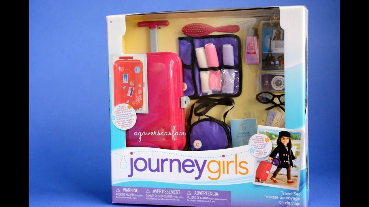 Journey Girls Travel Set For American Girl Doll Youtube