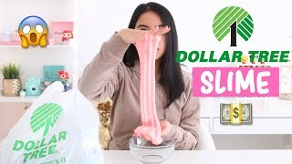 DOLLAR TREE SLIME CHALLENGE! Making Slime Using $1 Ingredients!