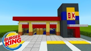 "Minecraft Tutorial: How To Make A Burger King (Restaurant) ""2019 City Tutorial"""