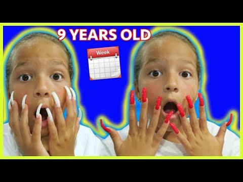 9 YEARS OLD WORE SUPER  LONG ACRYLIC NAILS FOR WEEK/ INSTAGRAM CONTROL HER DECISIONS