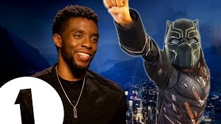 """You're like a kid when you play a superhero!"" Chadwick Boseman on becoming Black Panther."