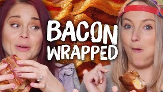 6 Bacon Wrapped MYSTERY FOODS! (Cheat Day)