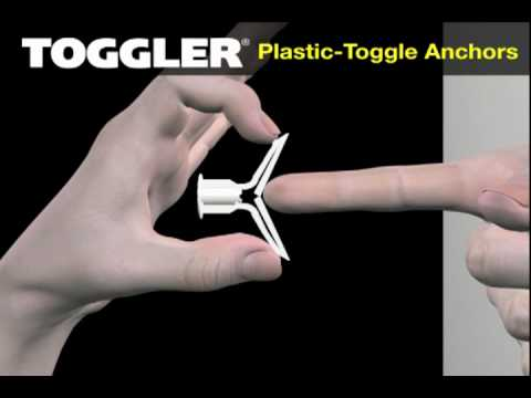Plastic Toggle Anchors Youtube
