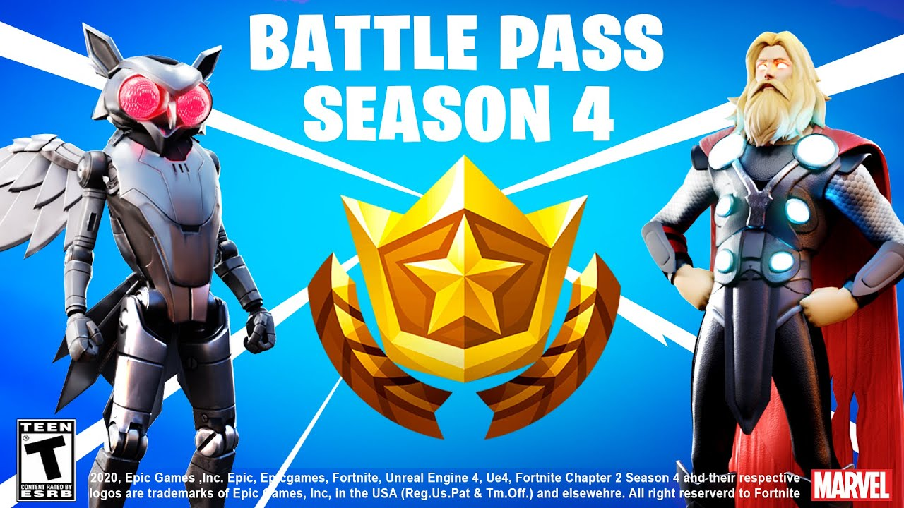 What Does The Season 4 Battle Pass Look Like-Fortnite Free Skins