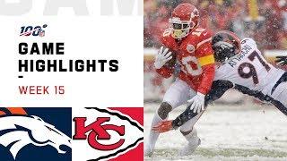 Broncos vs. Chiefs Week 15 Highlights | NFL 2019