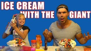Ice Cream Party Gymnast and the Giant! Payton from Ninja Kids!