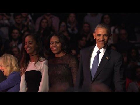 اوباما يودع الحياة السياسية بخطاب مؤثر