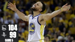 Kevin Durant exits with injury, Warriors prevail vs. Rockets in Game 5 | 2019 NBA Playoff Highlights