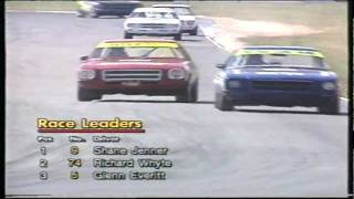 Glenn Everitt racing in the HQ Holden Series