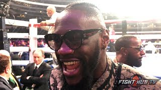 "DEONTAY WILDER GIVES MIKEY GARCIA MAD RESPECT ""HE CAME IN & FOUGHT THE BEST AT 147!"""