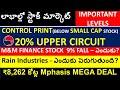 CONTROL PRINT Stock- 20% UP, RAIN Industries stock, Mphasis stock, m&m finance stock