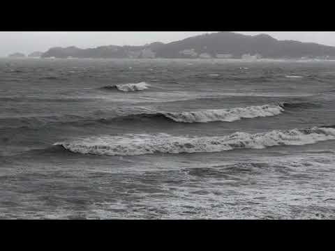 和歌山県 浜の宮海岸 2018 0904 台風21号通過  時刻15:00