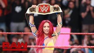 Sasha Banks vs. Charlotte – WWE Women's Championtitel Match: Raw, 25. Juli 2016