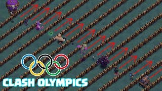 OLYMPIC GAMES !! 🔥 Which TROOP is FASTEST !! 🔥 Builder Hall !! 🔥 Clash Of Clans