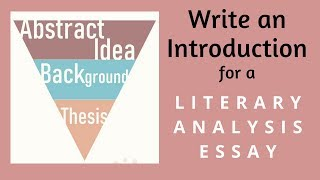 Write an Introduction for a Literary Analysis Essay | Back-to-School