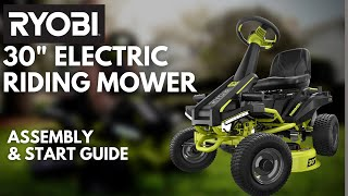 "Video: 30"" Electric Riding Mower 50 AH"