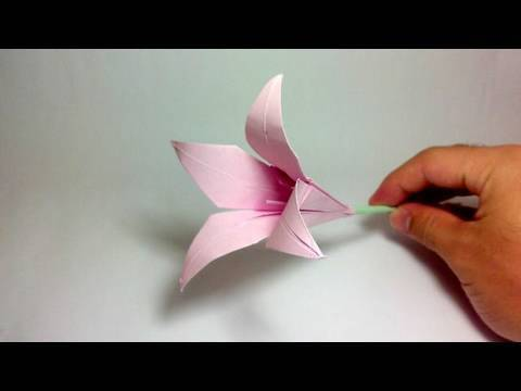 Origami Flower  Lily 100th video!