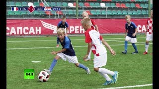 Reliving the World Cup final! Kids recreate all the goals from the match