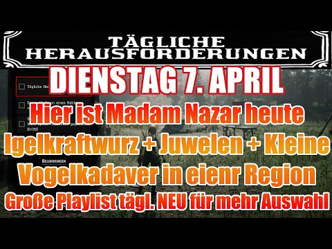 Dienstag 7. April Täglichen Herausforderung Dailys Nazar Red Dead Redemption 2 Online