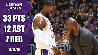 LeBron James puts on a show as Kobe Bryant sits courtside | 2019-20 NBA Highlights