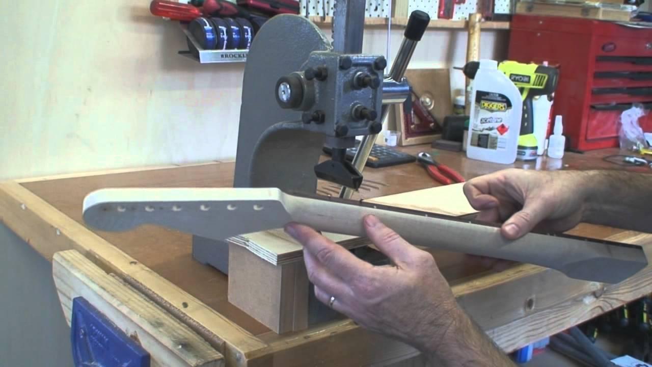 stratocaster guitar build part 4 building a stratocaster guitar neck youtube. Black Bedroom Furniture Sets. Home Design Ideas