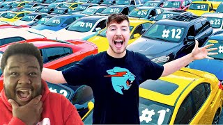MRBEAST I Gave My 40,000,000th Subscriber 40 Cars REACTION