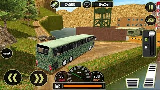 Army Bus Driver US Soldier Transport Duty 2017 - Offroad Driving Bus - Android GamePlay