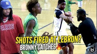 Shots Fired at LeBron! Bronny RESPONDS w/ Quavo Watching! CAUGHT FIRE FROM DEEP!