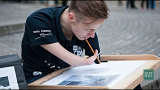 This Man Was Born Without Hands But Still Became An Incredible Artist