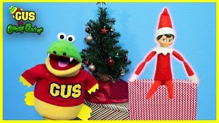 ELF ON A SHELF Unboxing Christmas Presents with Giant Christmas Dinosaur!