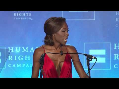 Angelica Ross Receives the HRC Visibility Award