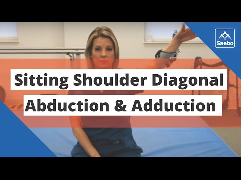SaeboMAS Exercise - Sitting Shoulder Diagonal Abduction and Adduction